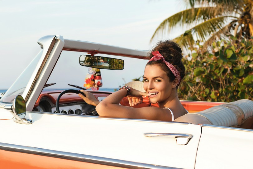 Куба авто девушка.JPG