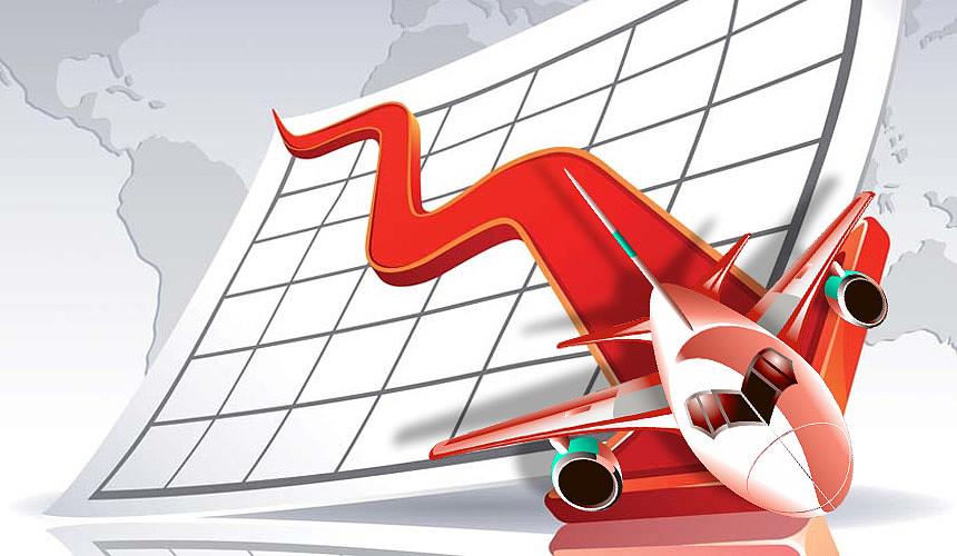 Убытки российских авиакомпаний превысили 40 млрд руб.