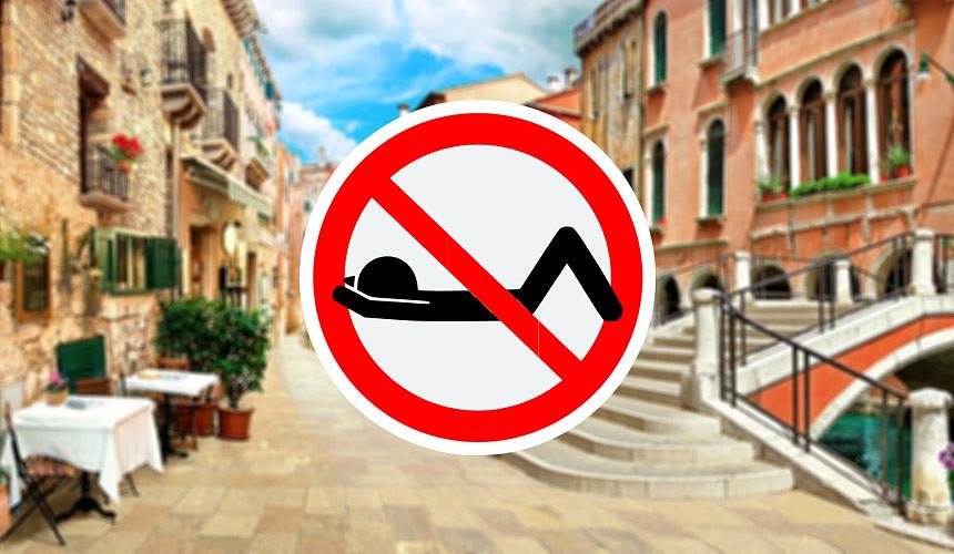 Курорты, на которых нельзя сидеть на земле и разгуливать в купальниках