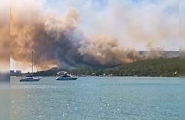 Лесные пожары добрались до турецкого Мармариса