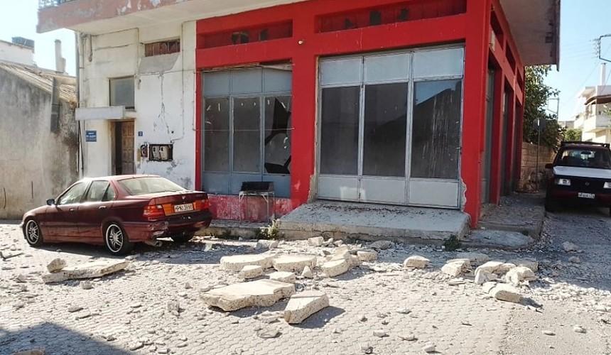 На греческом Крите произошло землетрясение