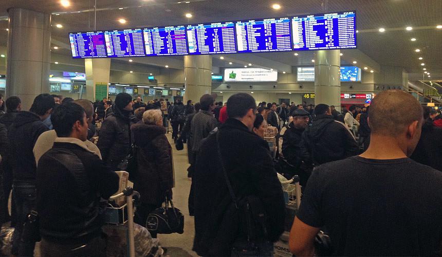 Более 40 рейсов задерживается в московских аэропортах